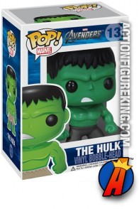 A packaged sample of this Funko Pop! Marvel Avengers Hulk vinyl figure.