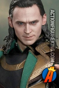 Fully articulated and dressed Hot Toys 1/6th Scale Loki movie action figure.