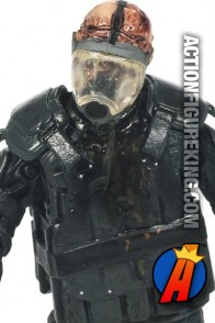 The Walking Dead TV Series 4 Gas Mask Zombie action figure from McFarlane Toys.