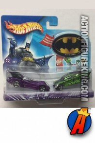 Batman versus The Riddler die-cast cars from Hot Wheels circa 2003.