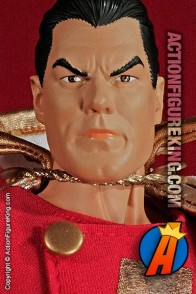 13 inch DC Direct fully articulated Shazam! action figure with authentic fabric outfit.