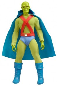 Mattel 8 inch Martian Manhunter action figure with removable fabric costume.
