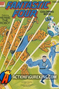 The Fantastic Four featuring Herbie the Robot coloring book.