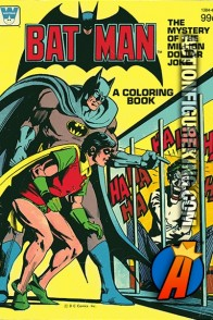 Batman The Mystery of the Million Dollar Joke coloring book.