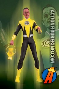 13 inch DC Direct fully articulated Sinestro action figure with authentic fabric outfit.