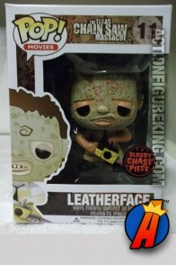 Funko Pop! Movies chase figure of Bloody Leatherface vinyl figure.