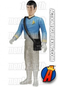 Star Trek 3.75-Inch variant Beaming Mr. Spock figure from ReAction and Funko.