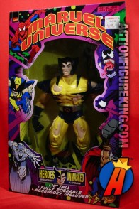 Marvel Universe articulated 10-inch Heroes Unmasked Wolverine action figure.