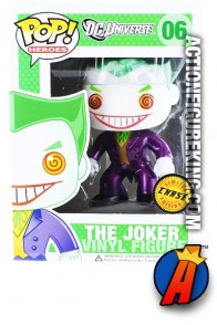 Funko DC Comics Pop! Heroes Target Exclusive variant Metallic JOKER figure number 6.