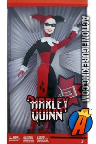 DC Comics presents this Barbie Famous Friends Harley Quinn figure.