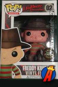 Funko Pop! Movies glow-in-the-dark-variant Freddy Krueger vinyl figure.
