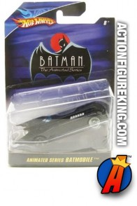 Batman Animated die-cast Batmobile from Hot Wheels.