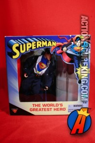 A packaged sample of this World's Greatest Hero Superman action figure from Hasbro.
