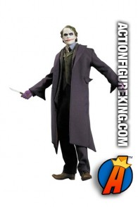 13 inch DC Direct fully articulated Dark Knight Joker action figure with authentic fabric outfit.