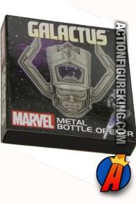 Diamond Select Marvel's Galactus metal bottle opener.
