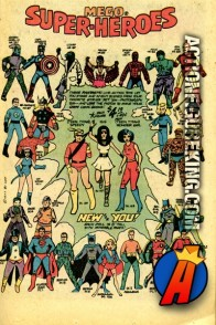 Mego World's Greatest Super-Heroes  Action Figures Comic Book Advertisement.