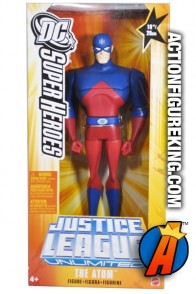 Justice League animated 10-inch scale Atom roto figure.