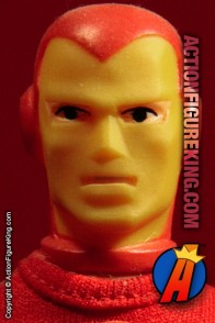 Fully articulated Mego 8-inch Iron Man action figure with authentic fabric outfit.