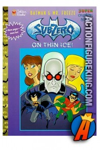 Batman and Mr. Freeze: Subzero On Thin Ice Golden coloring book.