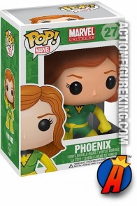 A packaged sample of this Funko Pop! Marvel Phoenix vinyl bobblehead figure.