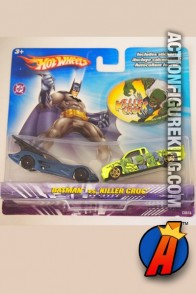 Batman vs. Killer Croc die-cast vehicles from Hot Wheels.