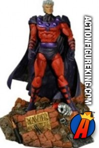 Diamond presents this rare Marvel Select variant Magneto without his helmet.