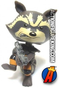 Funko Marvel Guardians of the Galaxy Mystery Minis variant Rocket Raccoon figure.