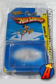 Wonder Woman die-cast Invisible Jet from Hot Wheels.