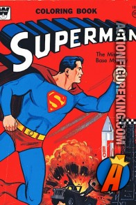 Superman: The Missle Base Mystery Whitman Coloring Book.