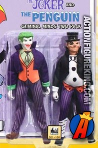 DC Superheroes Retro Cloth 8-Inch Figures Two-Pack of Penguin and Joker from Figures Toy Company.