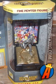 A packaged sample of this Comic Book Champions pewter Captain America figure.