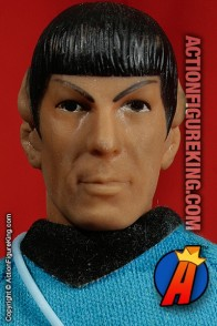 8 inch Mego Star Trek Mr. Spock action figure with authentic fabric outfit.