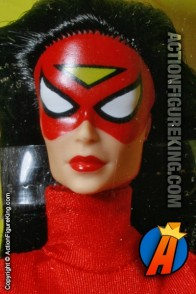 An absolutely perfect head sculpt on this Toybiz sixth-scale Spider-Woman action figure.