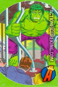Whitman Hulk Caged 1982 round jigsaw puzzle.
