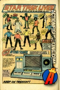 These Mego 8-inch Star Trek action figures are presented here as they appeared in a 1970s comic book ad.