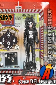 A packaged sample of this Kiss Series Two 8-inch The Demon Hotter Than Hell variant.