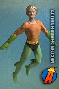 Fully articulated Tonner 17.5-inch dressed Aquaman action figure.