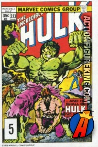 5 of 24 from the 1978 Drake's Cakes Hulk comics cover series.