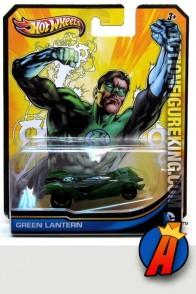 Green Lantern die-cast vehicle from Hot Wheels circa 2012.