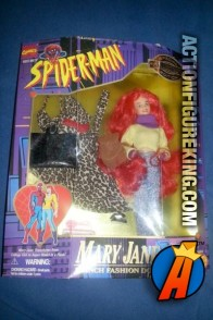Sixth-scale Mary Jane action figure with changeable outfits from the Spider-Man Animated series.