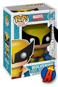 A packaged sample of this Funko Pop! Marvel Wolverine vinyl figure.