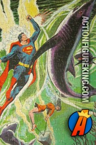 1974 APC 200-Piece Superman vs. a Shark Cannister Jigsaw-Puzzle.