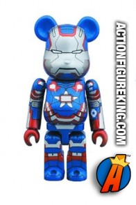 Minature Medicom Bearbrick Iron Patriot action figure from Iron Man 3.