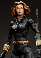 Marvel Legends Series 8 Black Widow Variant action figure from Toybiz.