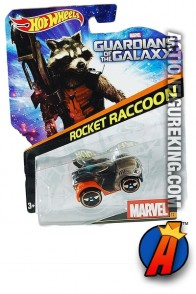 Guardians of the Galaxy Rocket Raccoon die-cast car from Hot Wheels.