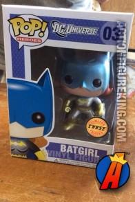 Funko Pop! Heroes metallic variant Batgirl figure.