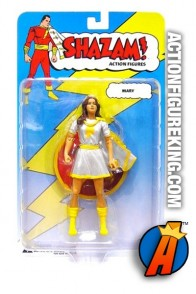 From the Shazam! line by DC Direct comes this white variant Mary Marvel action figure.