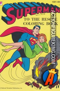 Superman to the Rescue 1964 coloring book from Whitman.