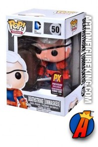 Funko Pop! Heroes Comicon Exclusive Unmasked Deathstroke vinyl bobblehead figure.