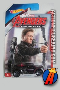 Avengers Age of Ultron Hawkeye Growler die-cast vehicle from Hot Wheels.